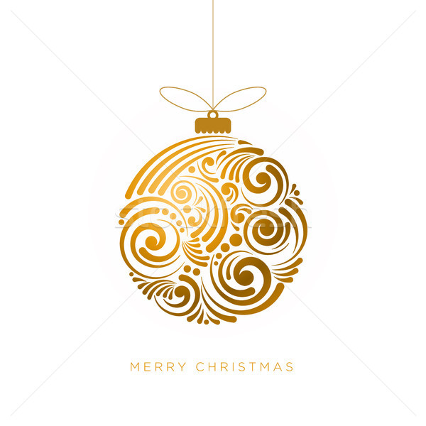 Abstract christmas ontwerp vector wenskaart swirl Stockfoto © sgursozlu