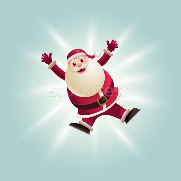 Santa Claus jumping Stock photo © sgursozlu