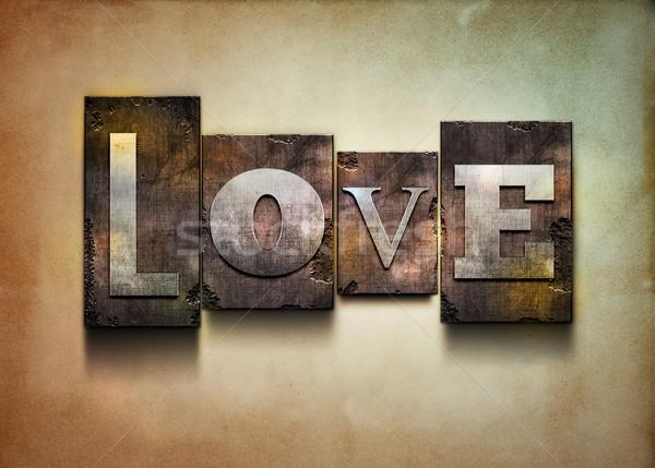 Love letterpress. Stock photo © sgursozlu