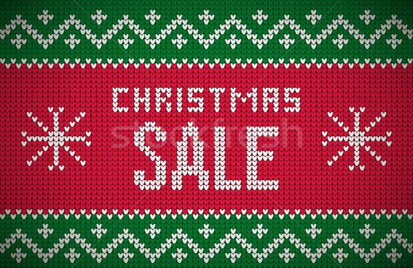 Kötött karácsony vásár üzenet északi stílus Stock fotó © sgursozlu