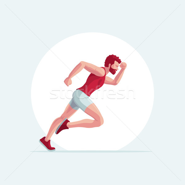 Corredor homem vetor ilustração corrida fácil Foto stock © sgursozlu