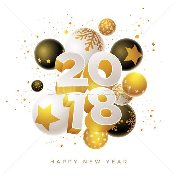 New Year 2018 Design  Stock photo © sgursozlu