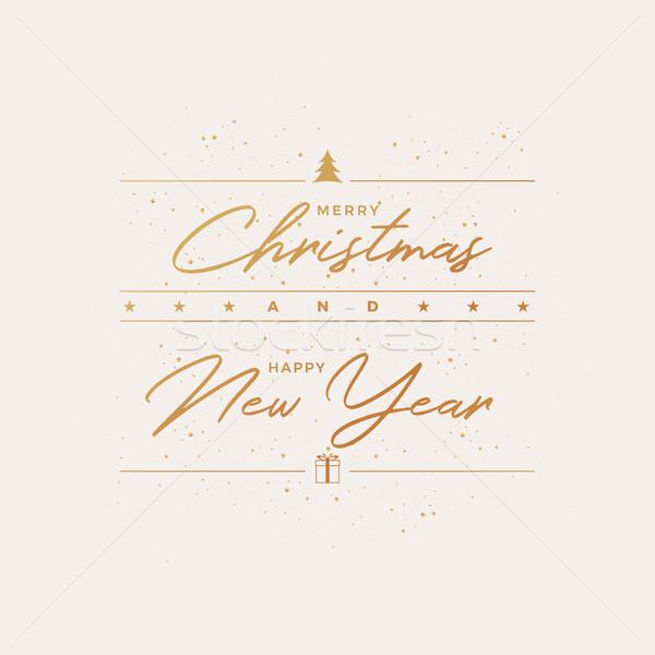 Merry Christmas Greeting Card Design Stock photo © sgursozlu