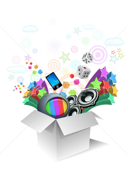 Gift box surprise - entertaintment Stock photo © sgursozlu