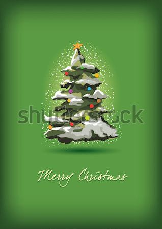 Christmas tree card Stock photo © sgursozlu