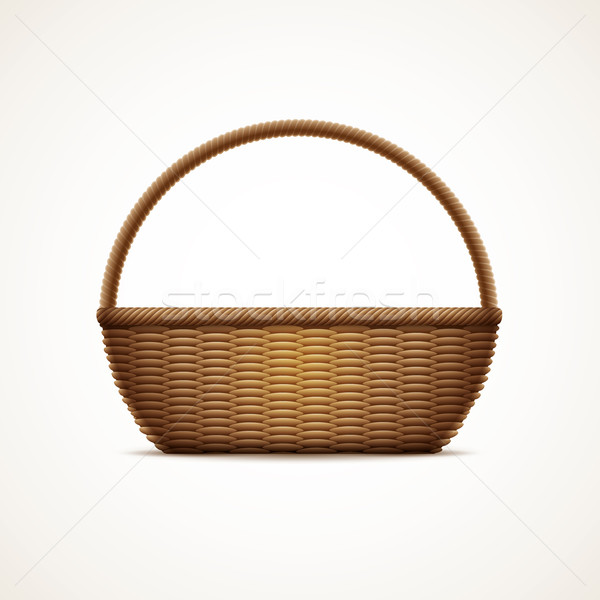 Wicker basket Stock photo © sgursozlu
