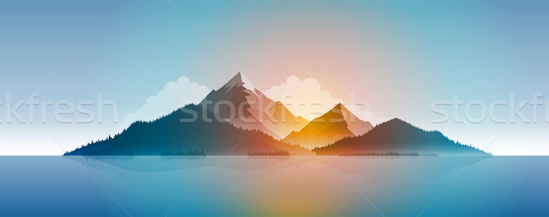 Island Panaroma Illustration Stock photo © sgursozlu