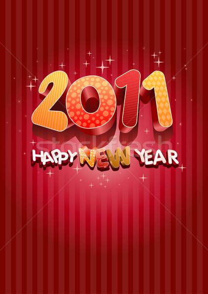 Buon anno 2011 tutti elementi separatamente Foto d'archivio © sgursozlu