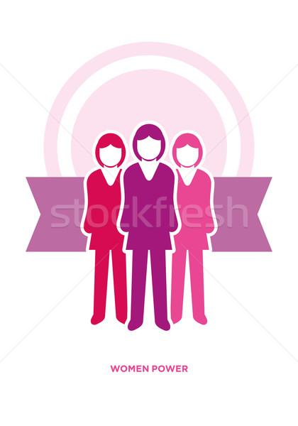 женщины власти вектора бизнеса иллюстрация дизайна Сток-фото © sgursozlu