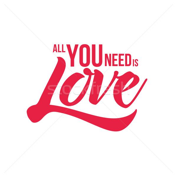 Necessidade amor vetor projeto Foto stock © sgursozlu