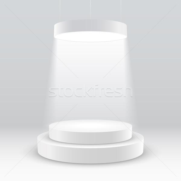 Bianco podio clean presentazione disco Foto d'archivio © sgursozlu