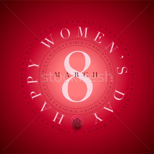 Día de la mujer tarjeta vector día tarjeta de felicitación plantilla de diseño Foto stock © sgursozlu
