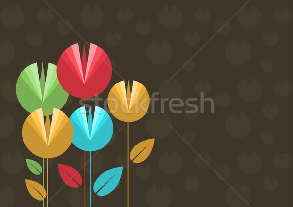 Vektör çiçek soyut dizayn güzellik bitki Stok fotoğraf © sgursozlu