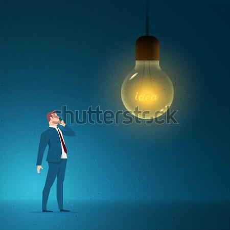 Foto stock: Vermelho · terno · empresário · idéias · abstrato · luz