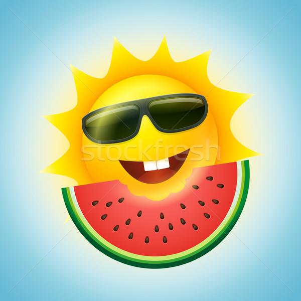 夏 太陽 スイカ ベクトル 実例 漫画 ストックフォト © sgursozlu