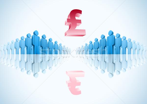 Font 3D vektor csoportkép illusztráció pénz Stock fotó © sgursozlu