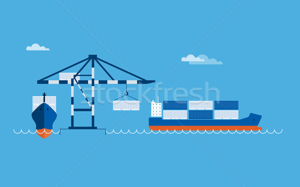 Stock photo: Ship Transportation Concept