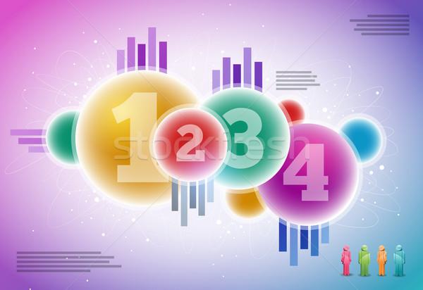 Vetor infográficos projeto abstrato elementos Foto stock © sgursozlu