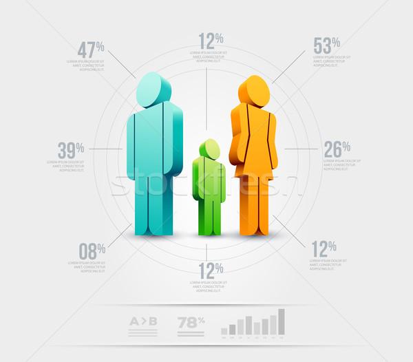 Pessoas modelo de design vetor elementos Foto stock © sgursozlu