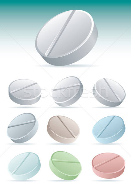 Pills icon set 2. Stock photo © sgursozlu