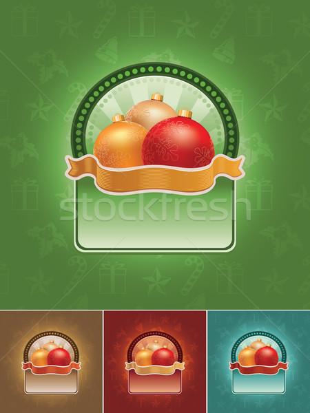 Photo stock: Noël · bannière · tous