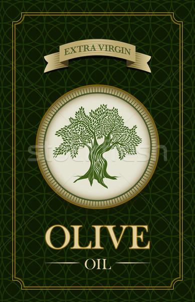 ベクトル オリーブオイル ラベル デザイン オリーブの木 実例 ストックフォト © sgursozlu