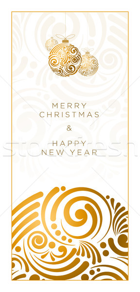 Stock fotó: Absztrakt · karácsony · terv · vektor · üdvözlőlap · örvény