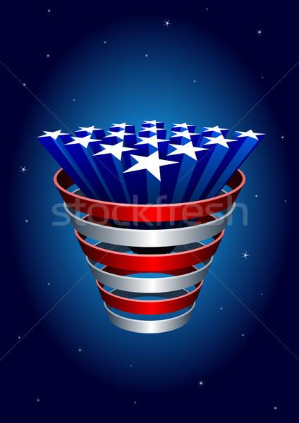 Stock foto: Sternen · Haufen · amerikanische · Flagge · Elemente · Party · abstrakten