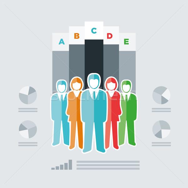 Pessoas infográficos vetor isolado pessoas de negócios equipe Foto stock © sgursozlu