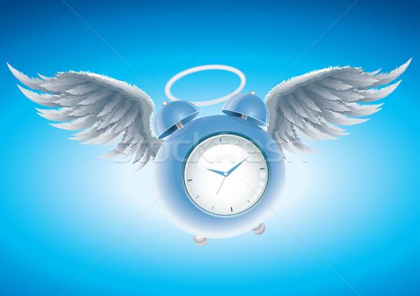 Winged clock Stock photo © sgursozlu
