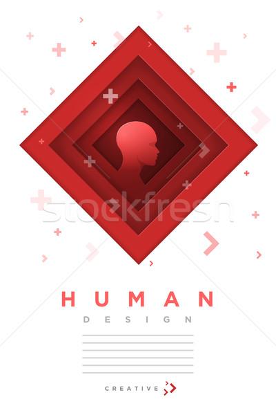 Human mind concept design Stock photo © sgursozlu