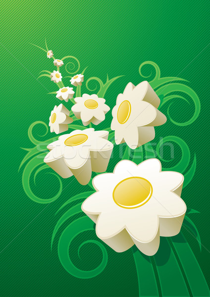 Résumé Daisy 3D marguerites Photo stock © sgursozlu