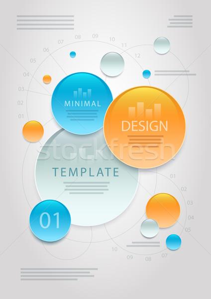 ストックフォト: ベクトル · 抽象的な · 情報 · デザインテンプレート · 要素