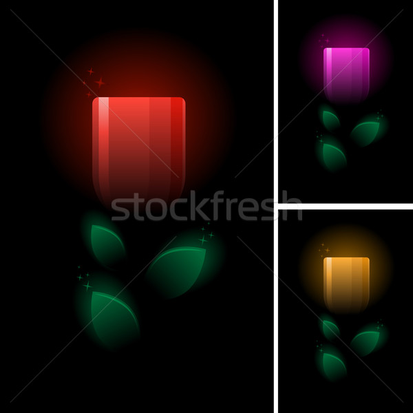 tulip symbol set. Stock photo © sgursozlu