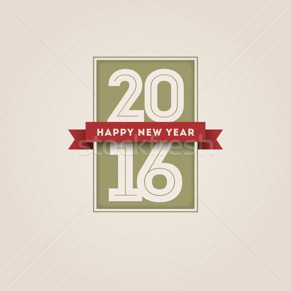 Yılbaşı 2016 vektör Retro happy new year dizayn Stok fotoğraf © sgursozlu
