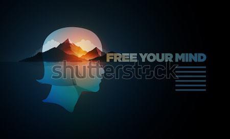 ücretsiz akla çift maruz kalma kız portre Stok fotoğraf © sgursozlu