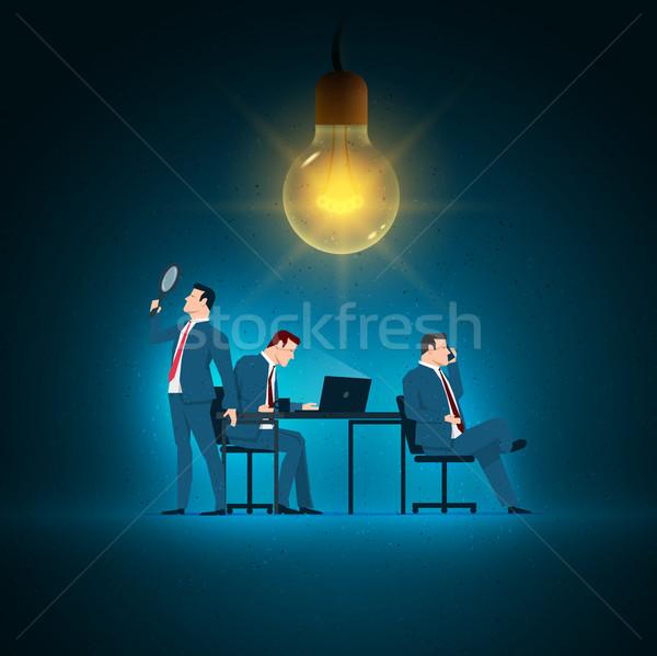 Foto stock: Negocios · ilustración · equipo · de · negocios · de · trabajo · elementos