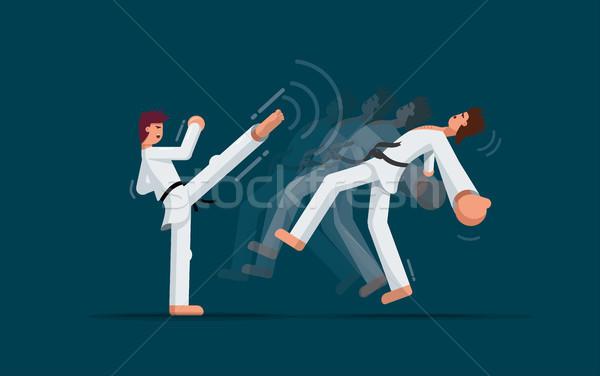 Dövüş sanatları eğitim iki kavga adam Stok fotoğraf © sgursozlu