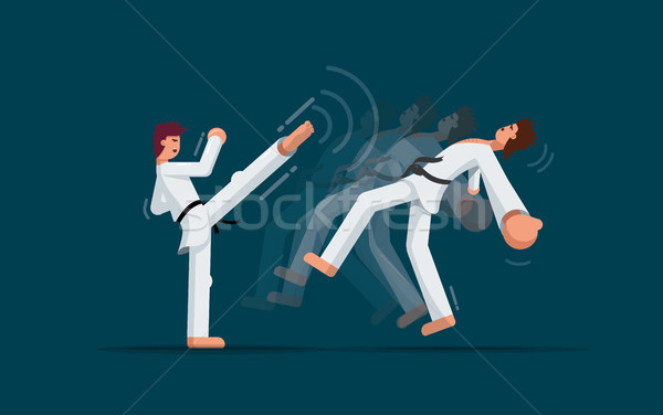 Martial arts training Stock photo © sgursozlu