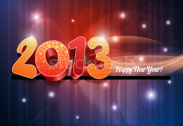 3d 2013 Happy New Year  Stock photo © sgursozlu