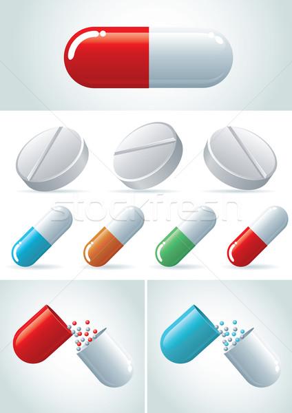 錠剤 簡単 ベクトル ファイル ストックフォト © sgursozlu