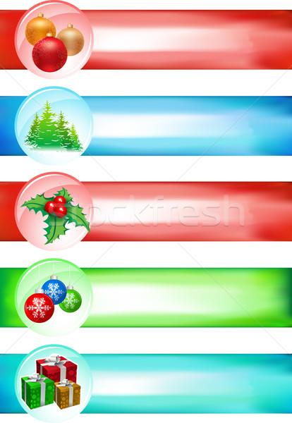 Big Christmas banner set Stock photo © sgursozlu