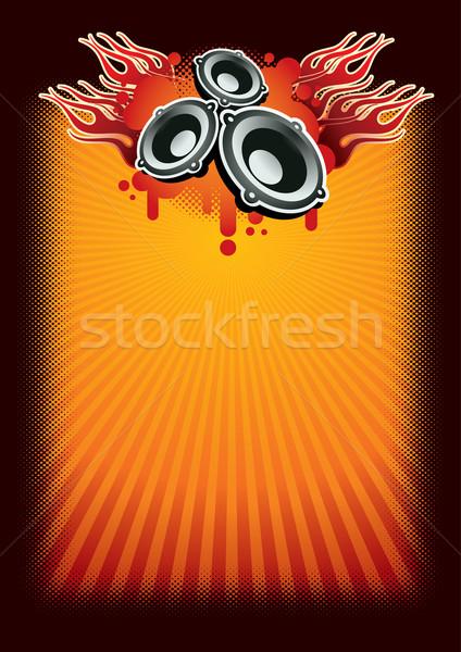 Música cartaz modelo camadas vetor arquivo Foto stock © sgursozlu