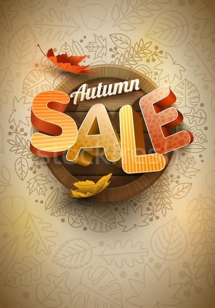Vecteur automne vente affiche modèle de conception affaires Photo stock © sgursozlu