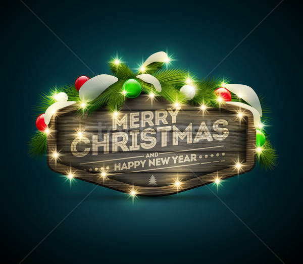 Wooden Christmas Signboard Stock photo © sgursozlu