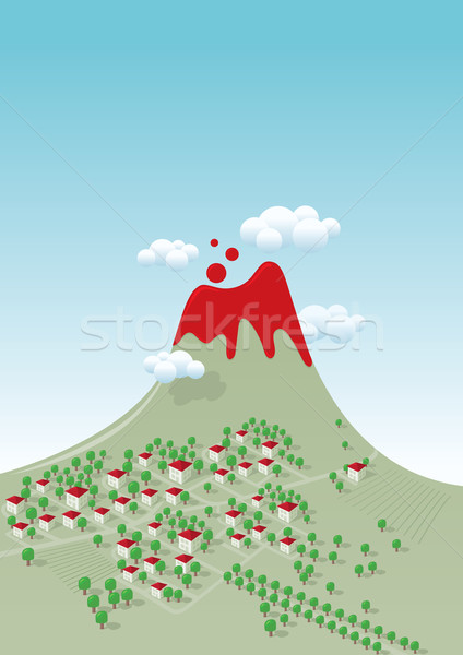 volcano. Stock photo © sgursozlu