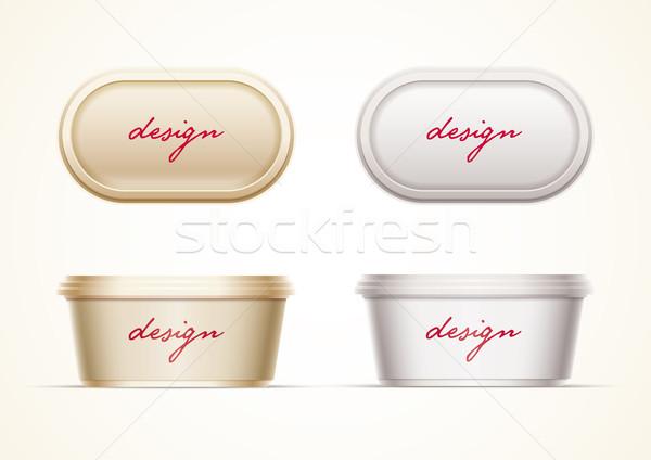 アップ バター マーガリン クリーム チーズ ストックフォト © sgursozlu
