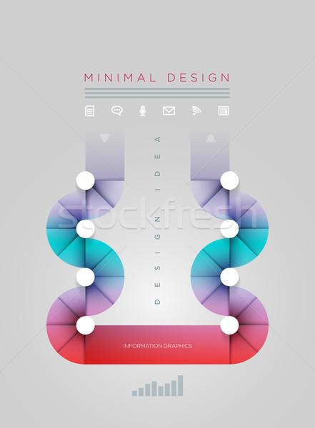 круга форма дизайн шаблона вектора аннотация Сток-фото © sgursozlu