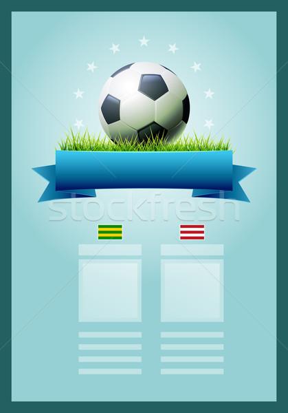 Futbol afiş vektör sayı tahtası dizayn elemanları Stok fotoğraf © sgursozlu