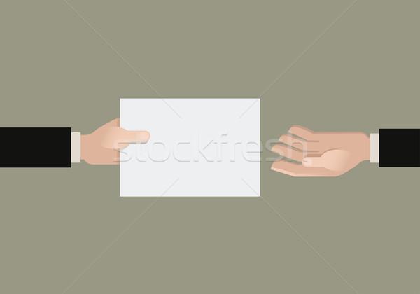 Mão papel outro fundo comunicação retro Foto stock © sgursozlu